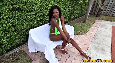 Tgirl, Outdoor masturbation, Black shemales, Tgirls, Poolside