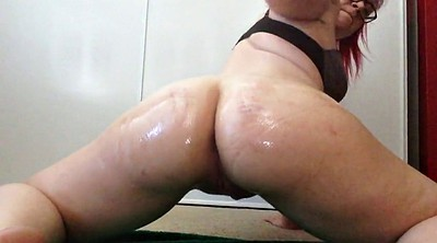 Bbw, Riding, Oil, Big booty, Dildo ride, Riding dildo