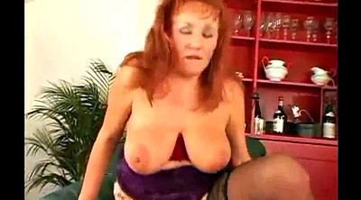 Mature threesome, Busty matures