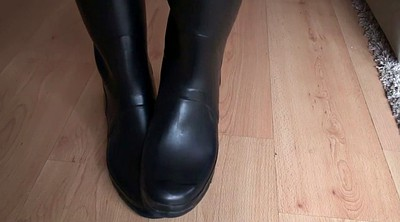 Boots, Boot, Rubber, Rubber latex, Rubber boots, Fetish foot