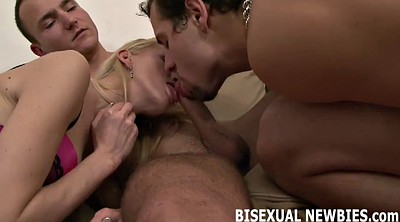 The first time, Our, First time threesome, First time suck, First suck, Femdom threesome