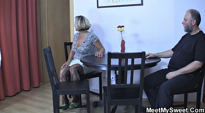 Family, Threesome, Young blonde, Seduced, Old family