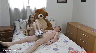 Footjob, Solo feet, Teen solo