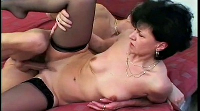 Moms, Old young, Mom and boy, Hand job