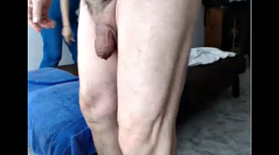 Young, Old grandpa, Old cum
