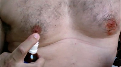 Injection, Inject, Nipple bdsm, Gay nipple, Saline, Injections