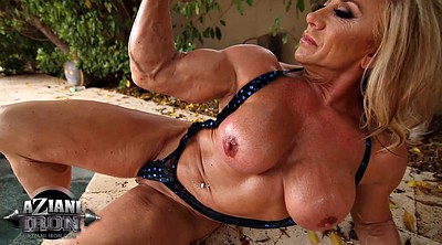 Muscle, Solo shaved fingering, Muscular, Muscle solo, Milf pool