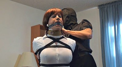 Intruder, Bound, Sandra, Mask, Crossdresser bondage, Bound gagged