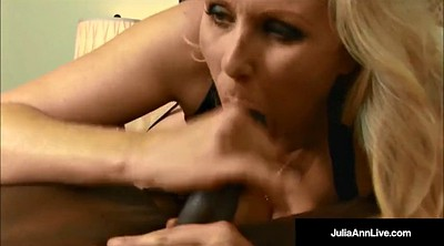 Julia ann, Blonde black, Blonde cock black, Rico, Cum in mouth, Blonde milf