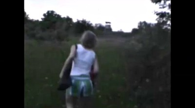 Czech couple, Czech couples, Outdoor, Standing, Czech blowjob