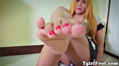 Shemale feet, Sole, Solo ladyboy, Feet show, Shemale foot