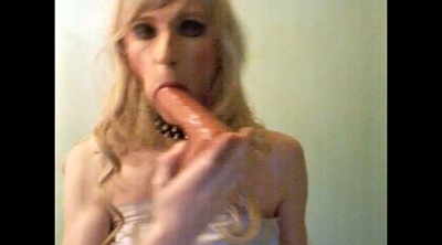 Crossdressing, Crossdress, Dildo sucking
