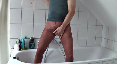 Shower, Pantyhose gay, Gay pantyhose