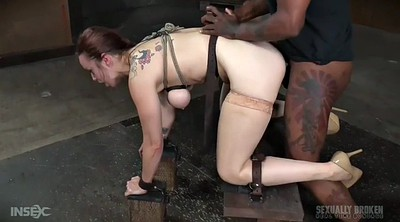 Tied, Tied up, Interracial double, Rope, Double black, Bdsm big tits