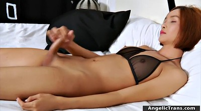 Asian handjob, Asian solo, Asian shemale solo