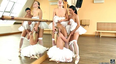Dance, Ballerina, Hot dance, Lesbian finger threesome, European
