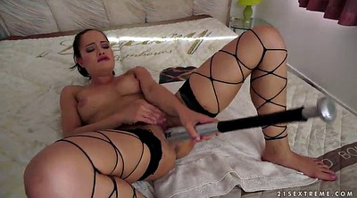 Stockings solo, Stockings masturbating, Pussy fisting