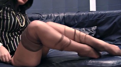 Nylon feet, Nylon foot, Nylon show, Feet show