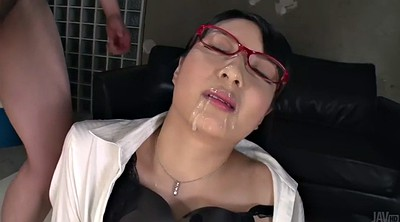 Japanese office, Facial, Asian whore, Japanese bukkake