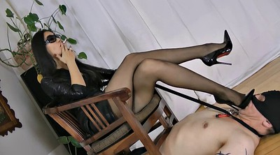 Latex, Smoking, Male slave, Smoking fetish, Sex slaves, Asian slave
