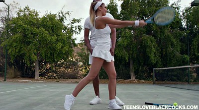 Interracial, August ames, August, Tennis