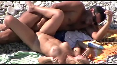 Caught, Beach sex, Voyeur sex, Public beach