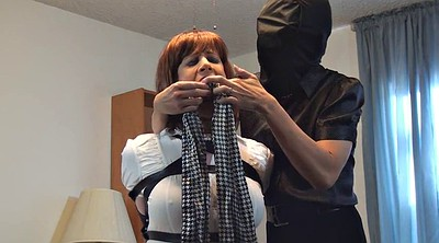 Bound, Crossdress, Crossdresser, Sandra, Gagging