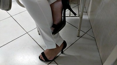 Foot, Hidden cam, High heels, Soles feet