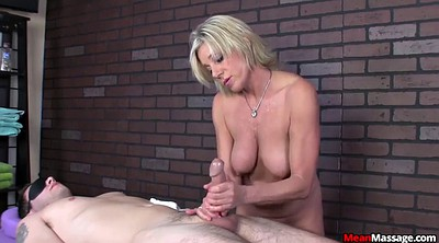 Mature massage, Blonde mature, Handjob mature