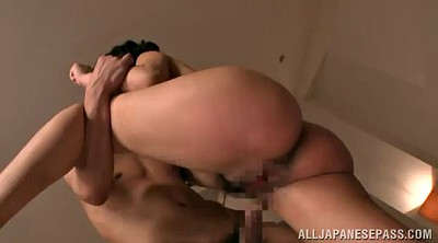 Hairy, Asian threesome, Asian double, Handjob cum, Asian double penetration