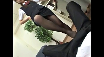 Asian black, Black pantyhose