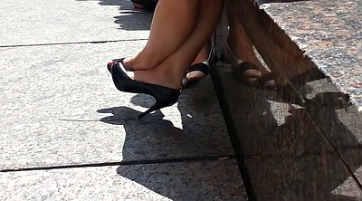 High heels, Shoes, Candid, Upskirt, Play, Foot feet