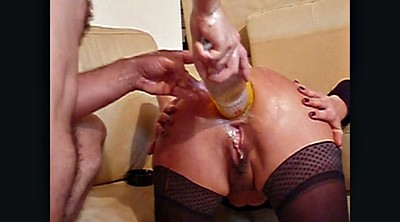 Double fisting, Huge toy, Fisting anal, Double fist, Double anal fisting, Amateur fisting