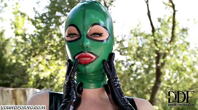 Suit, Latex masturbation, Feet slave