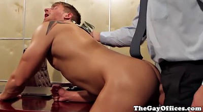 Gay office, Tight asshole