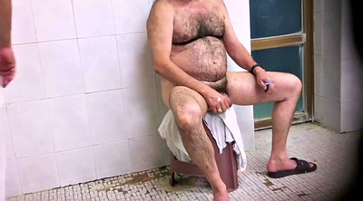 Hairy shower, Daddy, Gay daddy, Public shower, Hairy daddy, Old hairy