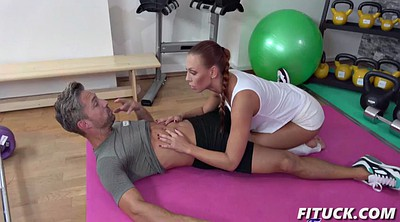 Small creampie, Gym, Teen creampie