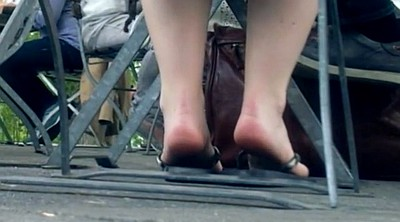 Voyeur, Young feet, Young foot, Candid feet