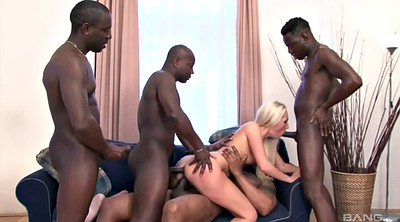 Shaved, Interracial anal, Anal gangbang, Double bbc, Black group