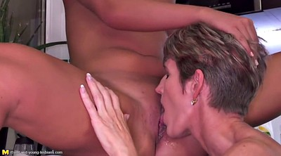 Young, Kitchen, Mom fuck, Lesbian mom, Mom daughter lesbian, Kitchen mom