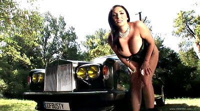 Car, Michelle b, Michelle, Very big, Hood, Car masturbate