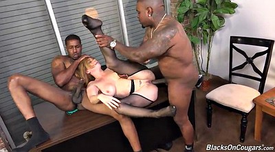 Office, Black girl, Officer, Interracial creampie, Double creampie, Anal double