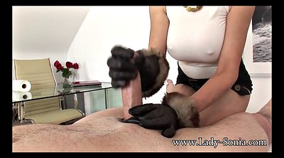 Sonia, Leather, Jerk off, Gloves