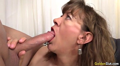 Mature, Old woman, Mature blowjob
