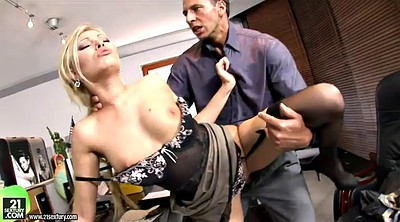 Office, Long, Long dick, Cowgirl anal