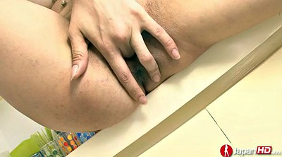 Japanese solo, Lonely, Hairy masturbation