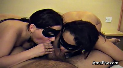 Black women, Ebony threesome, Mask, Big women