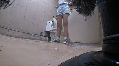 Toilet, Korean teen, Koreans, Korean cam, Asian girl, Toilet voyeur