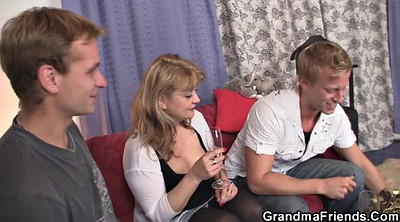 Young, Mature old, Granny threesome