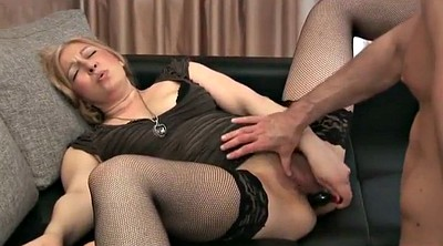 Dildo, Mature casting, Dildo riding